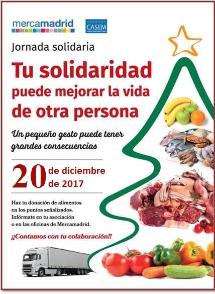 Cartel 3ª Jornada Solidaria CASEM-Asomafrut