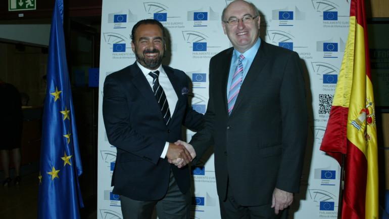 El Comisario Phil Hogan con el Presidente de CASEM, Andrés Suárez