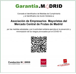Pantallazo certificado del Identificativo Garantia Madrid